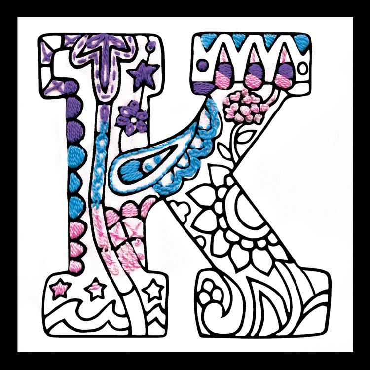 # 4072 Zenbroidery Letter K