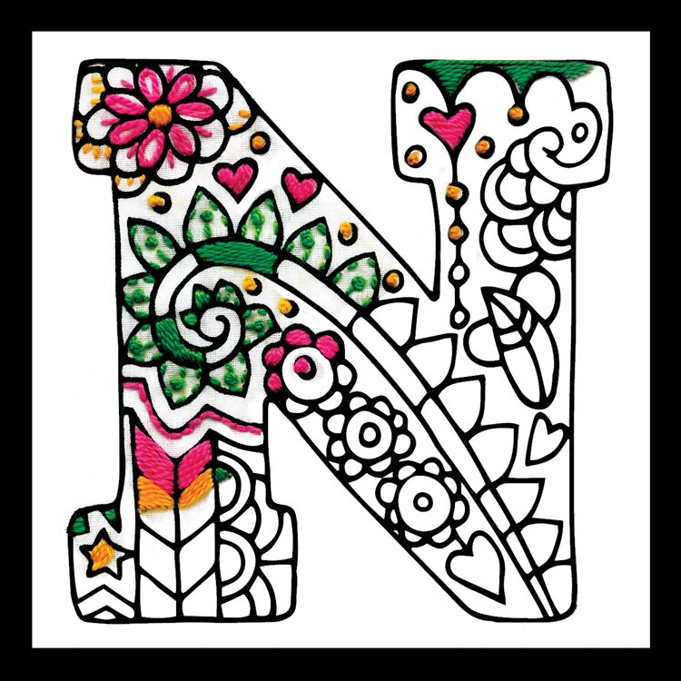 # 4075 Zenbroidery Letter N