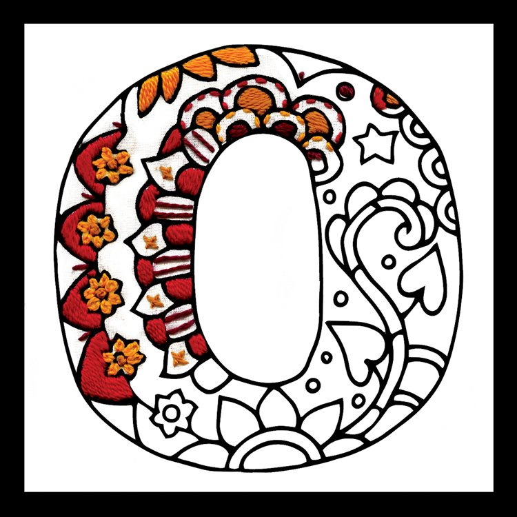 # 4076 Zenbroidery Letter O