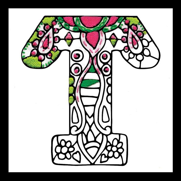 # 4081 Zenbroidery Letter T