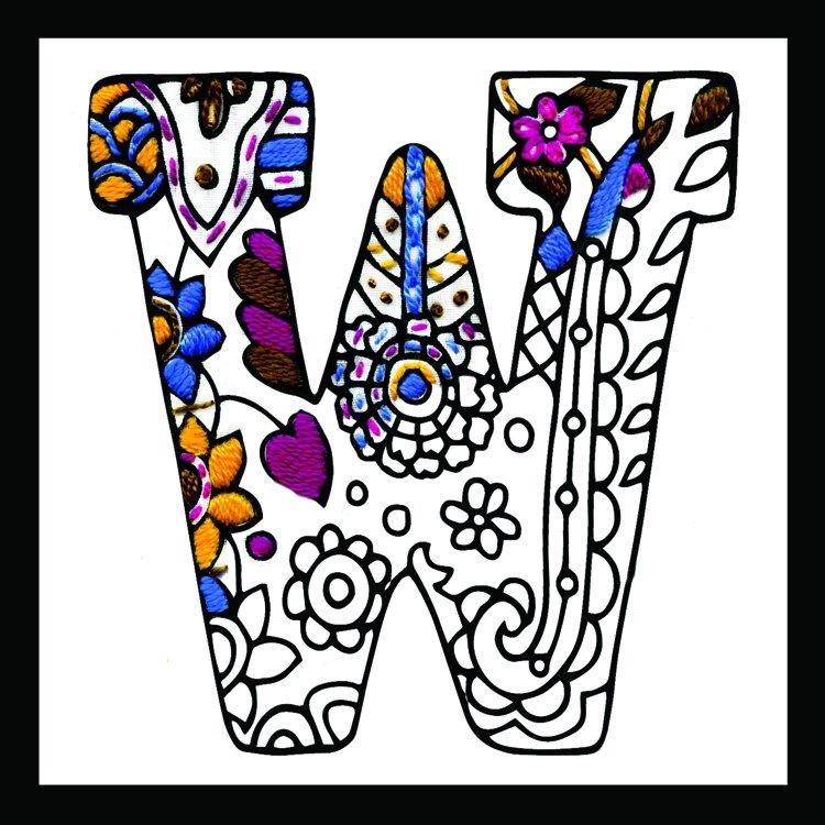 # 4084 Zenbroidery Letter W