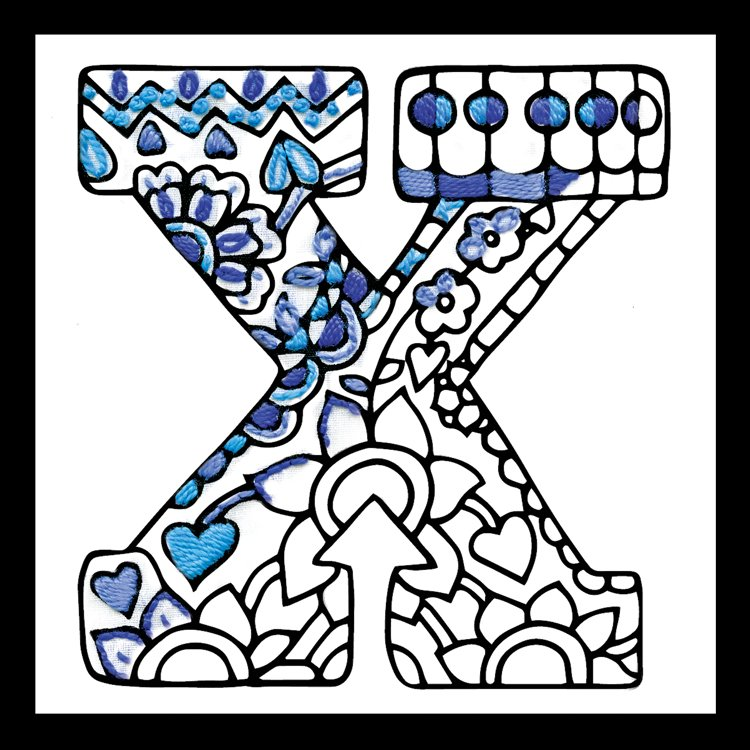 # 4085 Zenbroidery Letter X