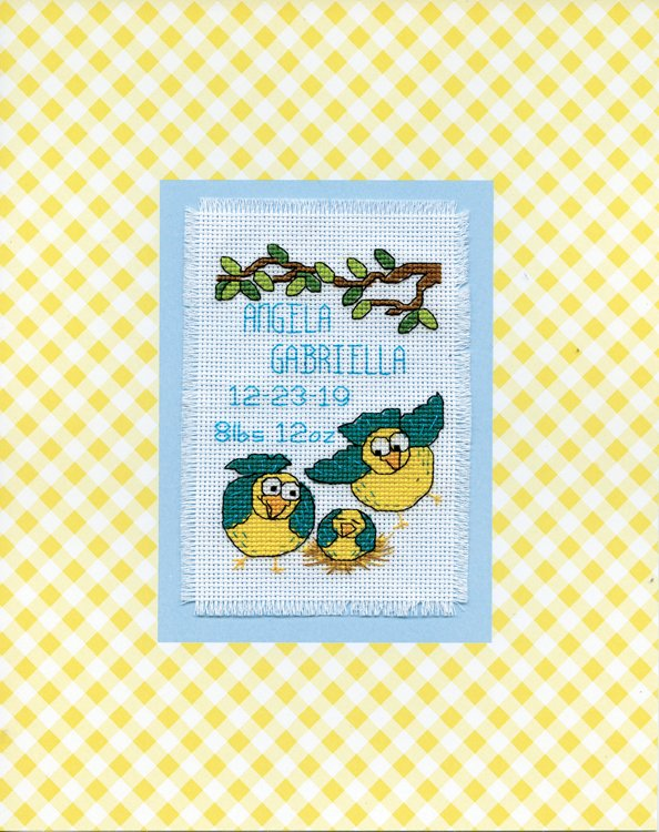 # 4482 Bird Family Stitch & Mat