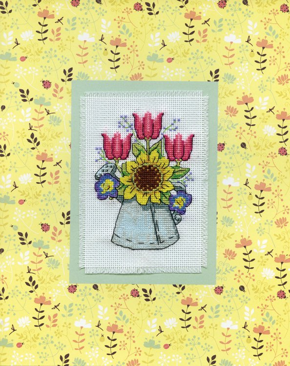 # 4486 Watering Can Stitch & Mat