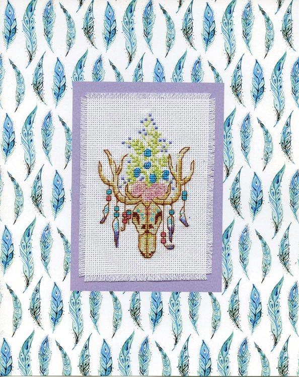 # 4488 Southwestern Skull Stitch & Mat