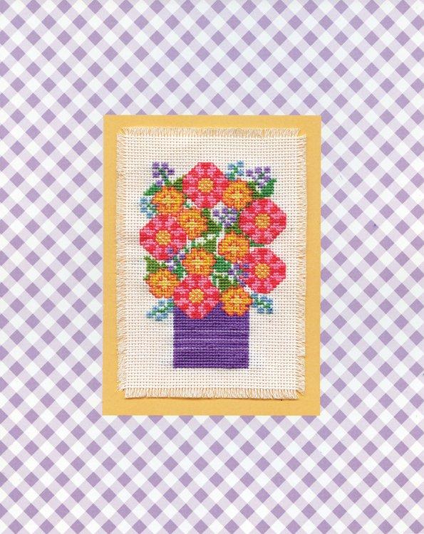 # 4489 Purple Vase Floral
