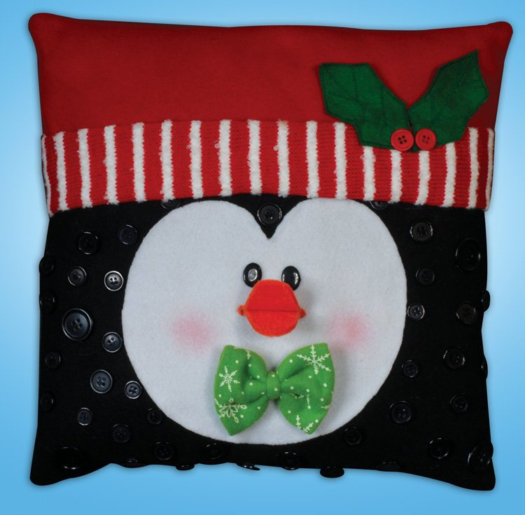 # 5192 Penguin Button Pillow