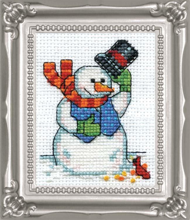 # 521 Snowman & Cardinal