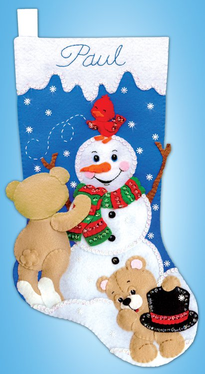 # 5254 Snowman with Teddies