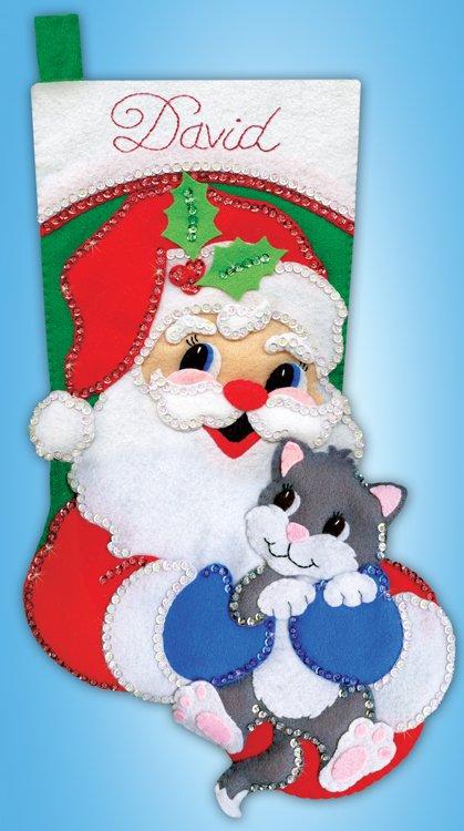# 5255 Santa with Kitten