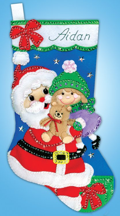 # 5258 Santa with Girl