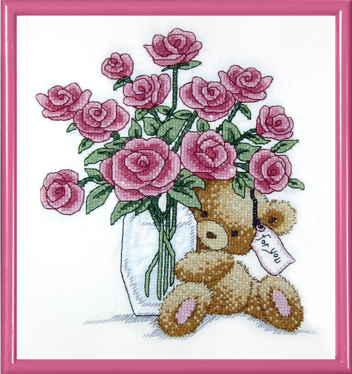 # 7015 Bear with Roses