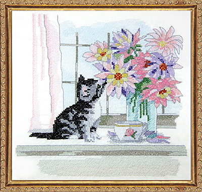# 7020 Cat with Vase