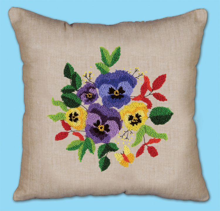 # 7024 Pansies Pillow