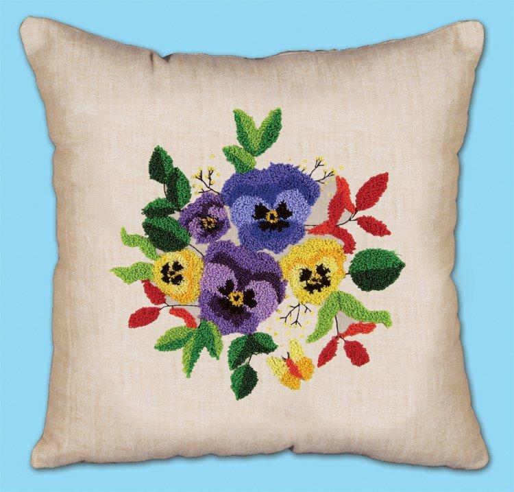 # 7024 Pansies Pillow
