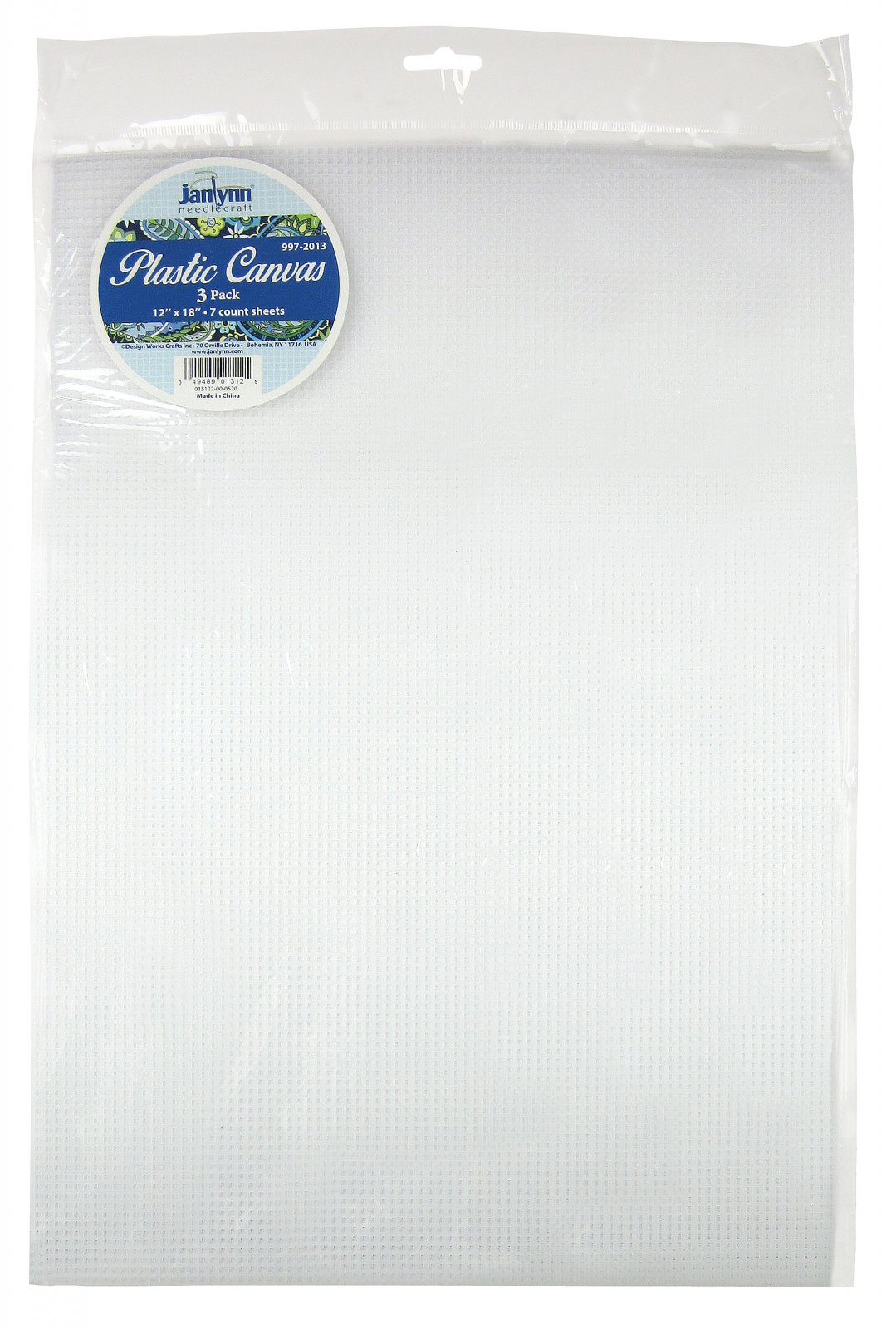 # 997-2013 - 7 Count Plastic Canvas Sheets - CLEAR/PACK OF 3