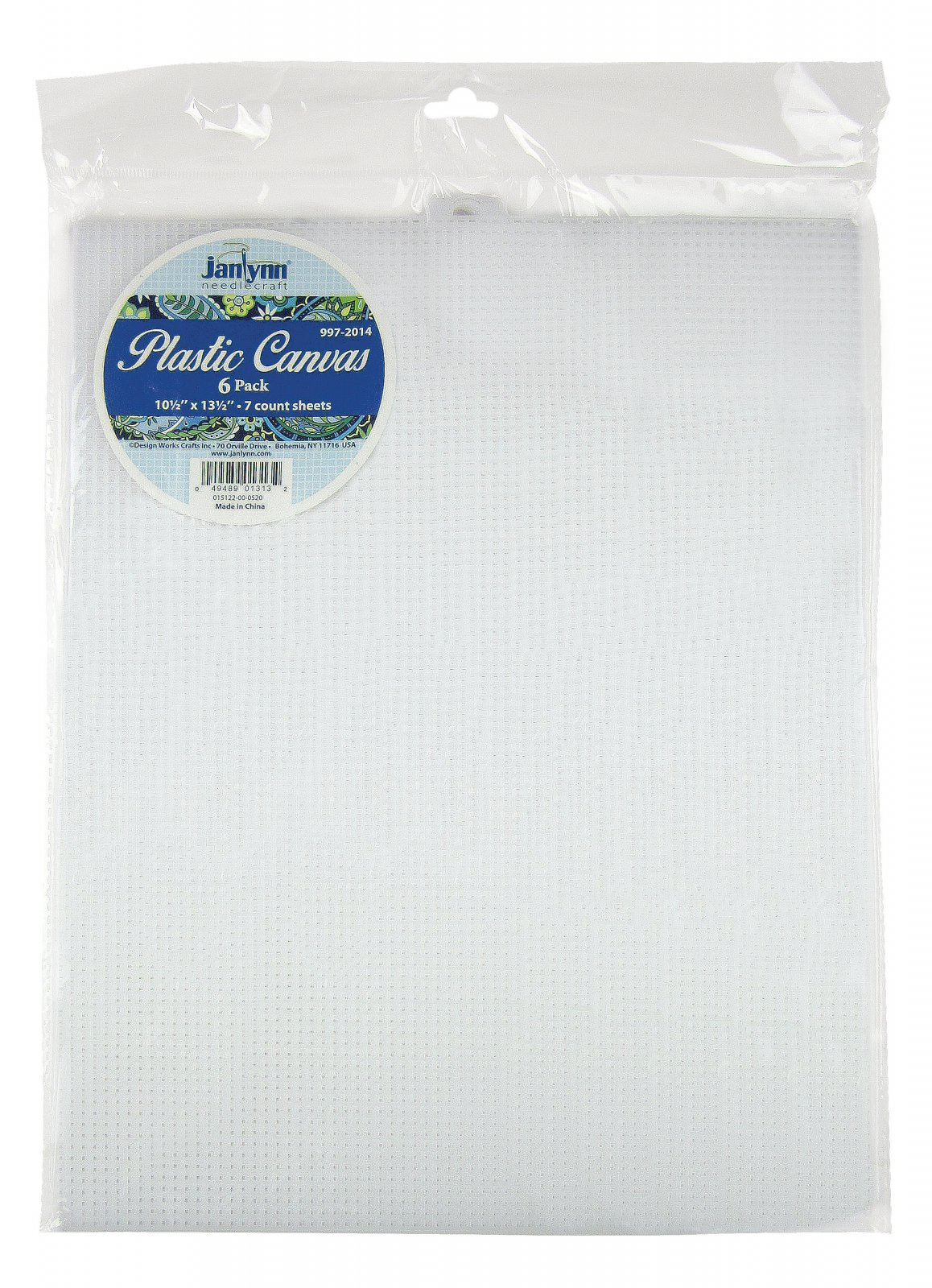 # 997-2014 - 7 Count Plastic Canvas Sheets - CLEAR/PACK OF 6