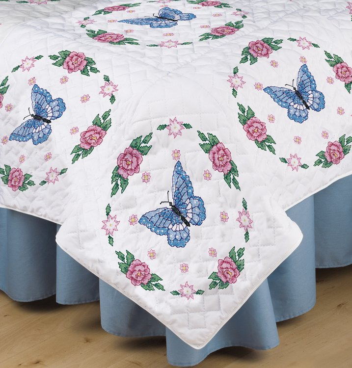 Quilt Blocks : stamped embroidery quilt kits - Adamdwight.com