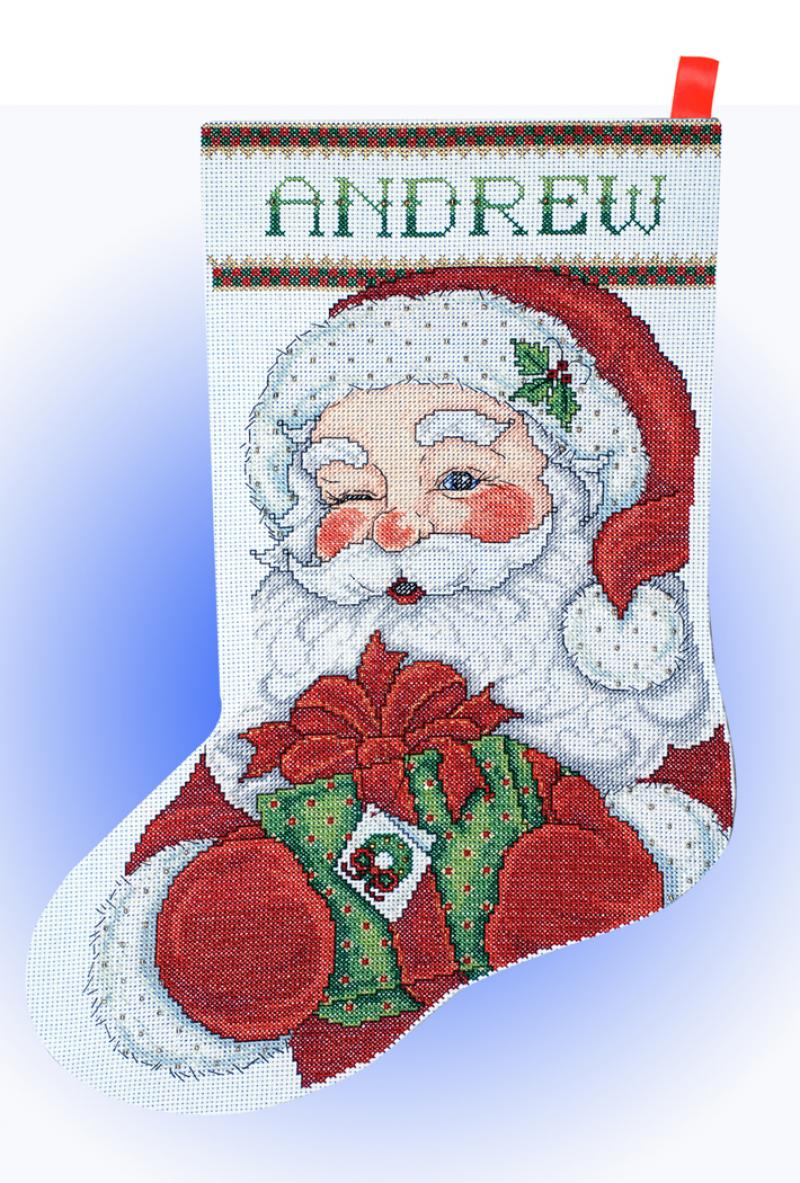 cross stitch stocking msrp 2199 view large image - Cross Stitch Christmas Stockings