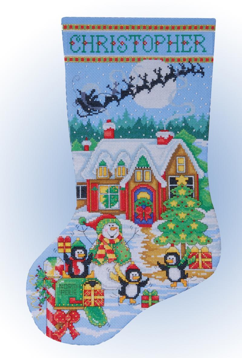 cross stitch stocking msrp 2199 view large image - Cross Stitch Christmas Stocking Kits