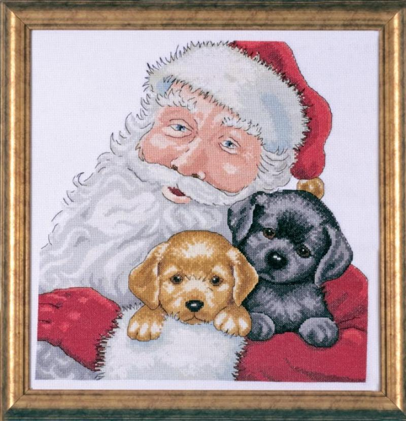 # 5978 Santa With Puppies