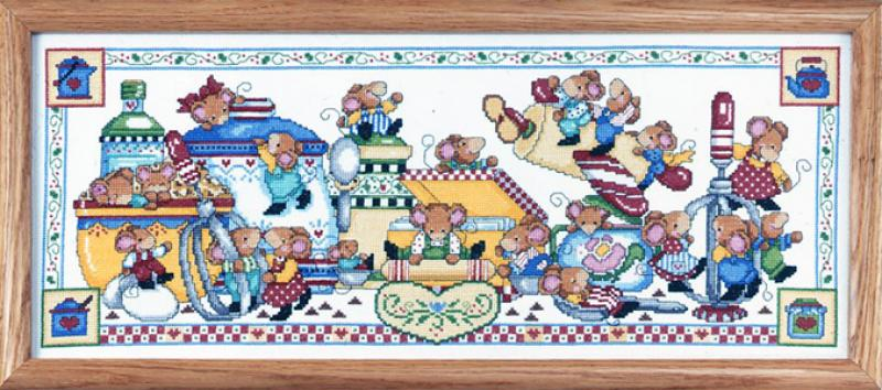 9427 Kitchen Fun 9 X 22 Counted Cross Sch Picture Kit