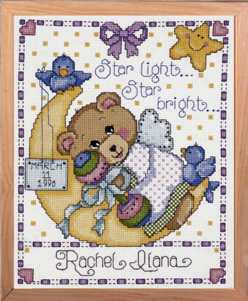Tobin Baby Design Works Cross Stitch Kit Girl Baby Buggy Sampler