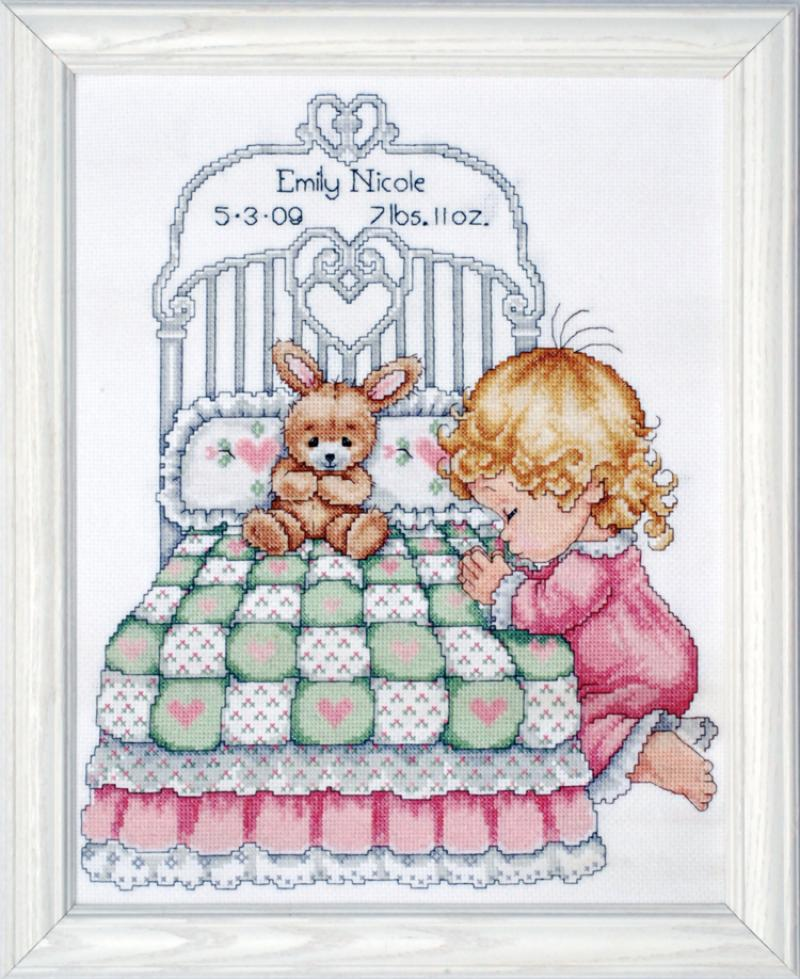 # T21709 Bedtime Prayer (Girl) Sampler