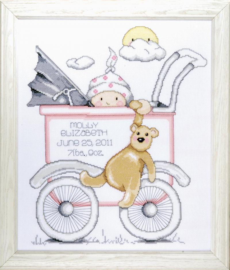 # T21743 Baby Buggy Girl