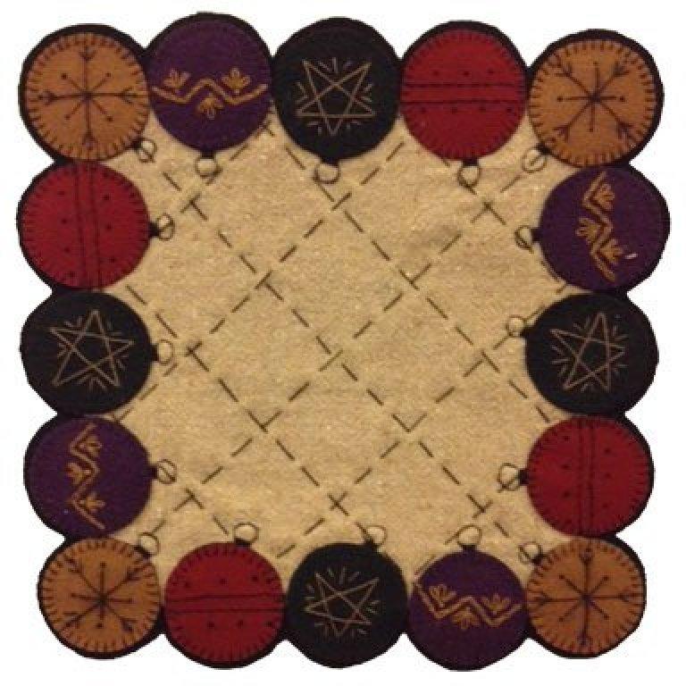 Ornaments Wool Table Mat Kit