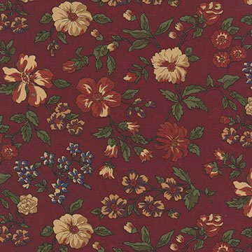 Bees 'n Blooms - Red - Sold By Half Yard