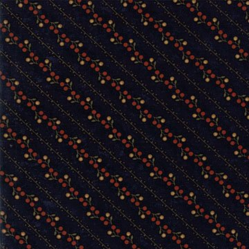 Oak Haven - Navy - Sold By Half Yard
