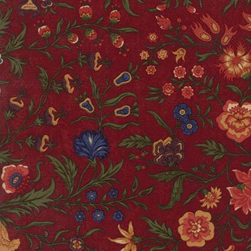 Thistle Farm - Red - Sold By Half Yard