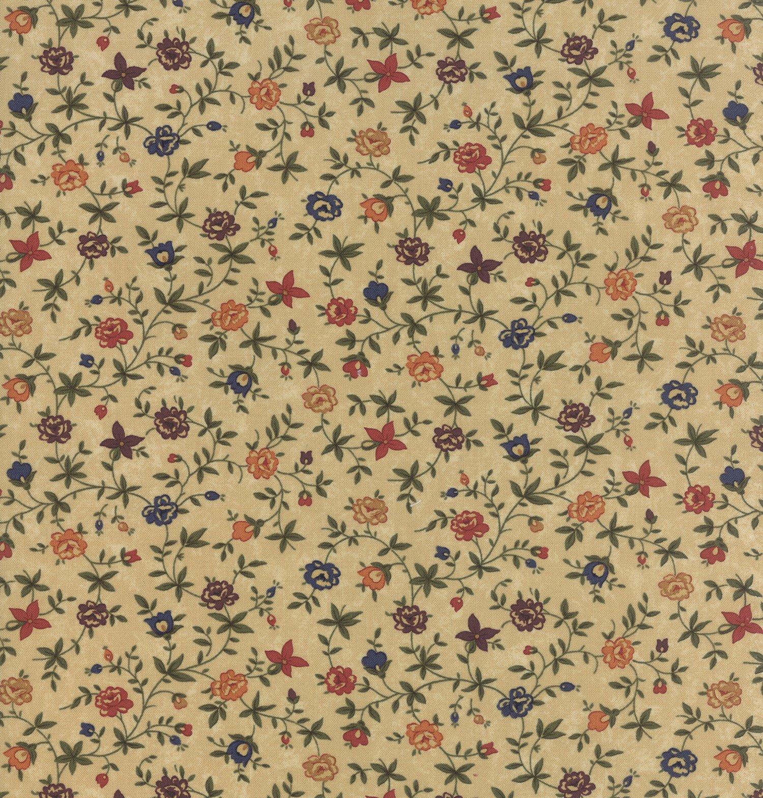 Fresh Cut Flowers - Tans - Sold By Half Yard