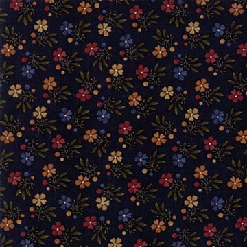 Natures Glory - Navy - Sold By Half Yard