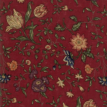 On Meadowlark Pond - Reds - Sold By Half Yard