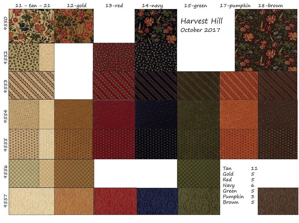 Harvest Hill SKU Chart