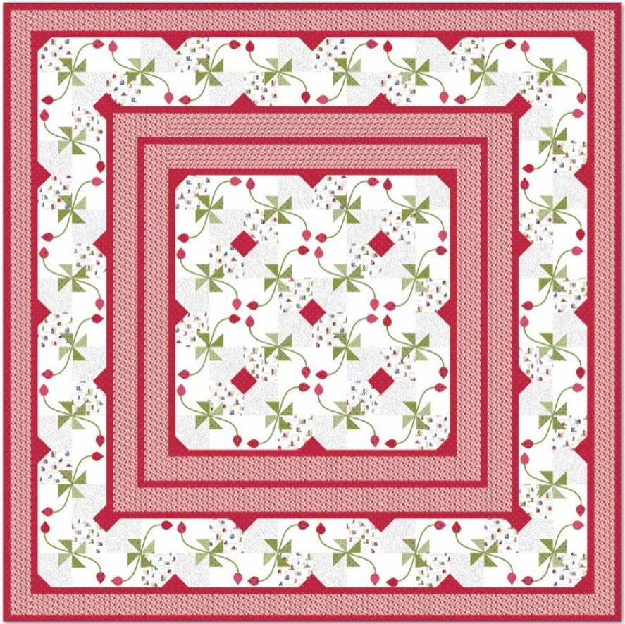 Village Square Pattern Digital Download