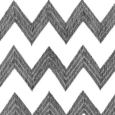 Poppy Patio Black and White Chevron