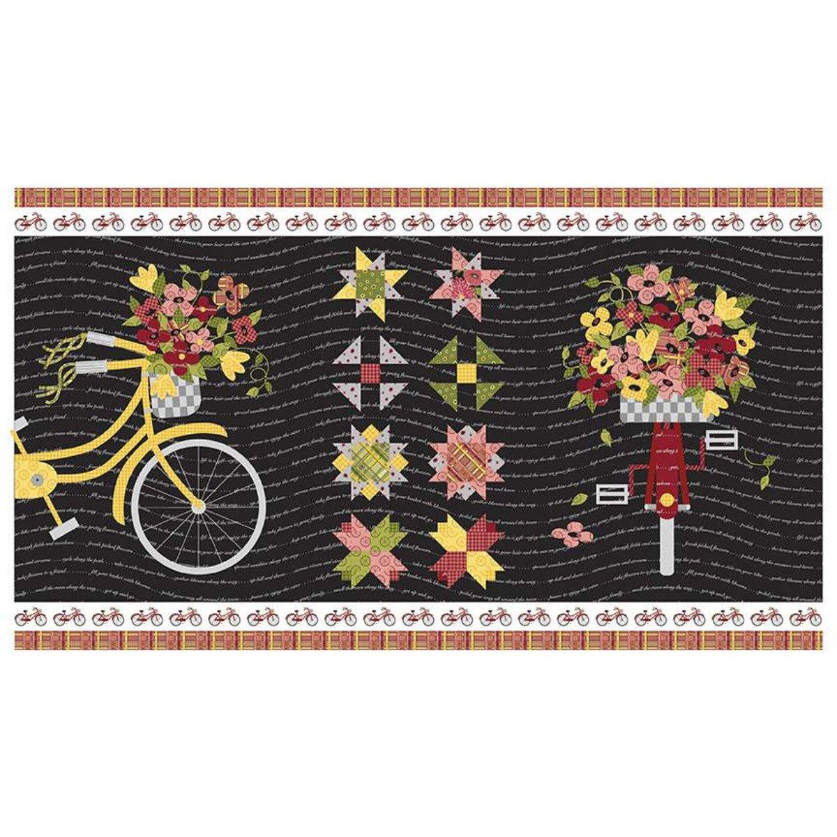 Petals & Pedals Panel - Black