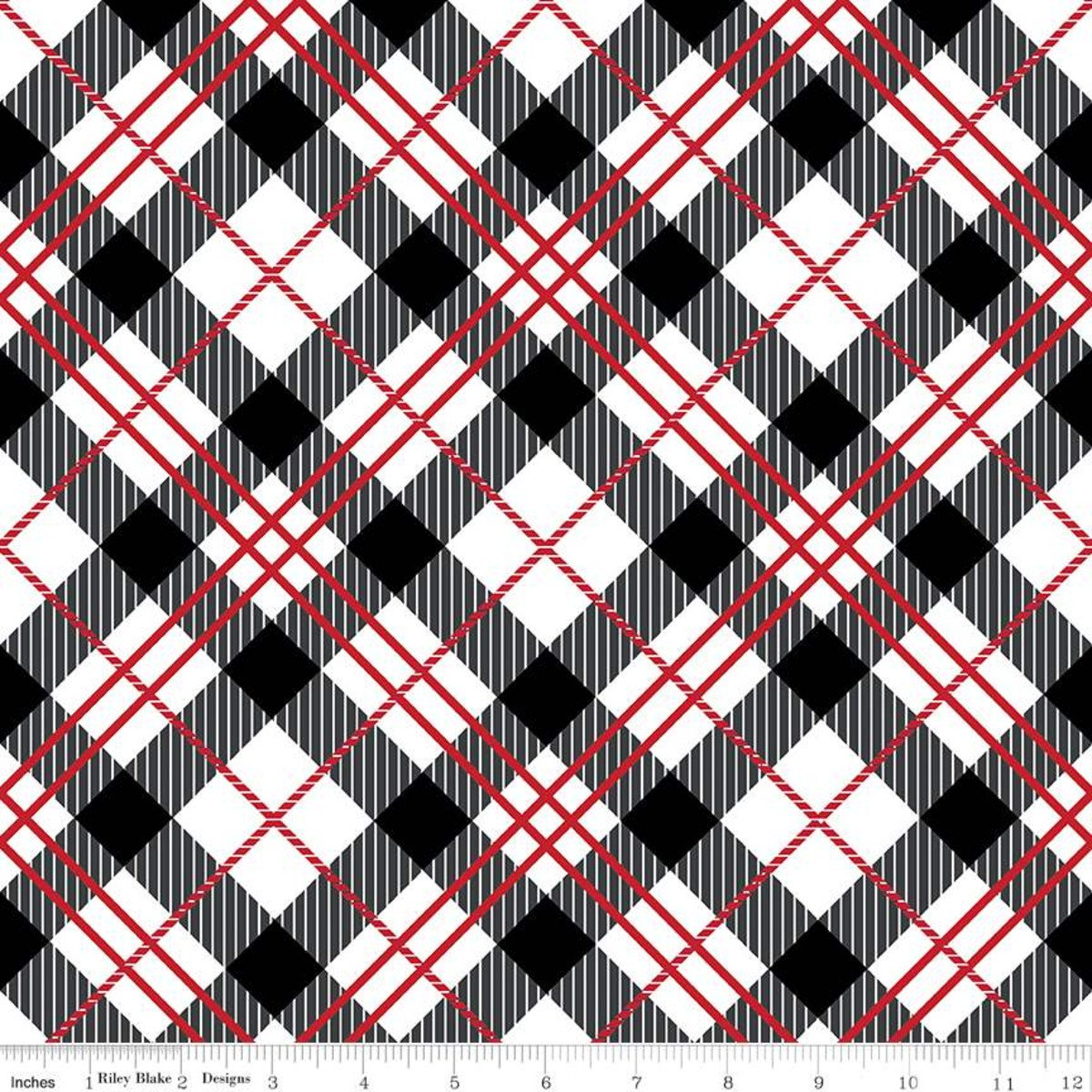 It's the Berries Plaid Black with Red