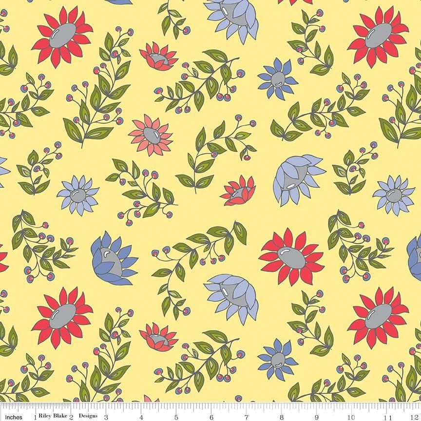 Monday, Monday Floral Print - Yellow
