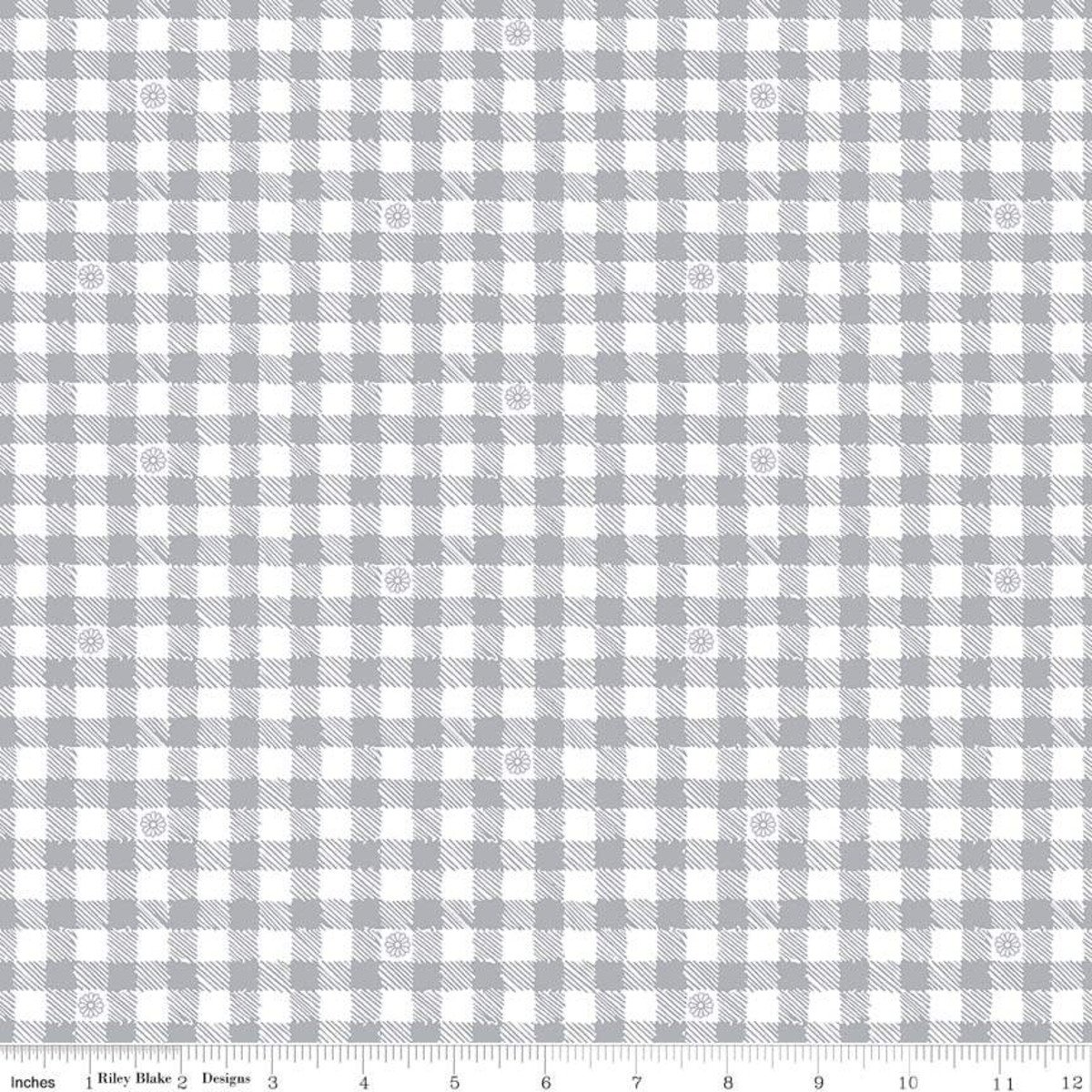 Honey Run Gray Check