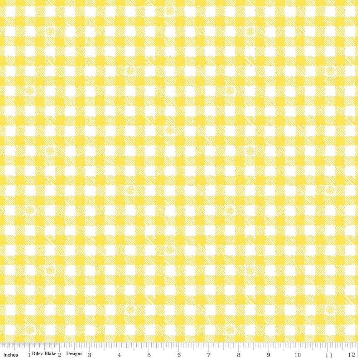 Honey Run Yellow Check