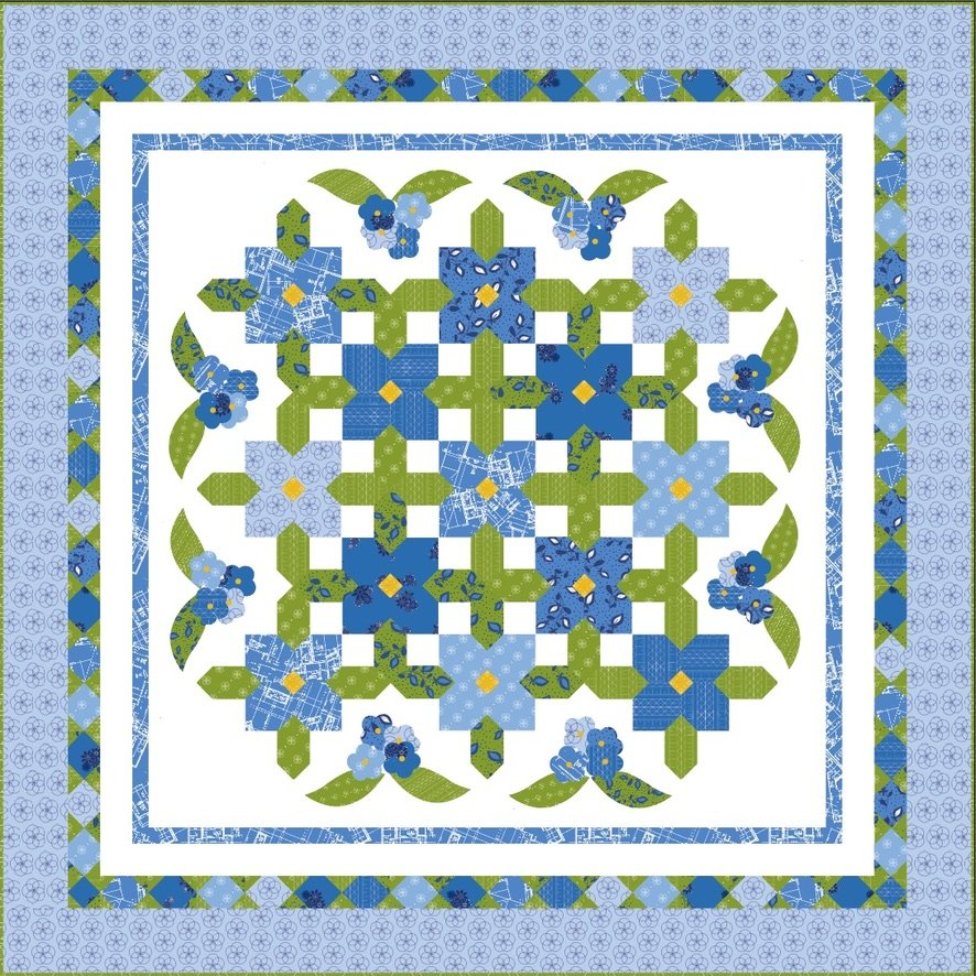 Summertime Blues Quilt Kit