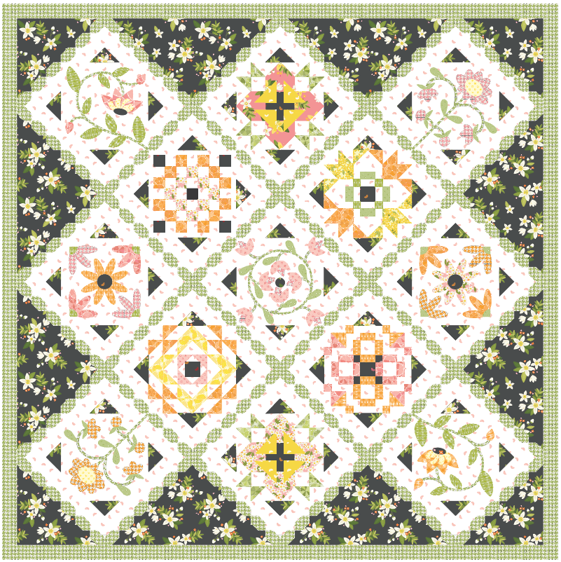 Gracious Grove Quilt Kit (Sew-Along Starts January 2021)
