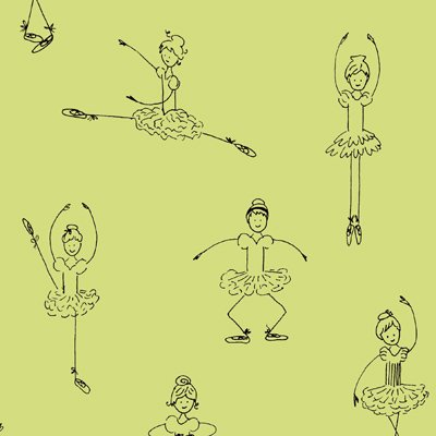 Twirl Green Ballerinas