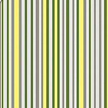 Thistledown Gray, Green and Yellow Stripe