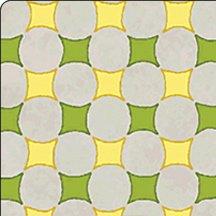 Thistledown Green, Gray, Yellow Circles