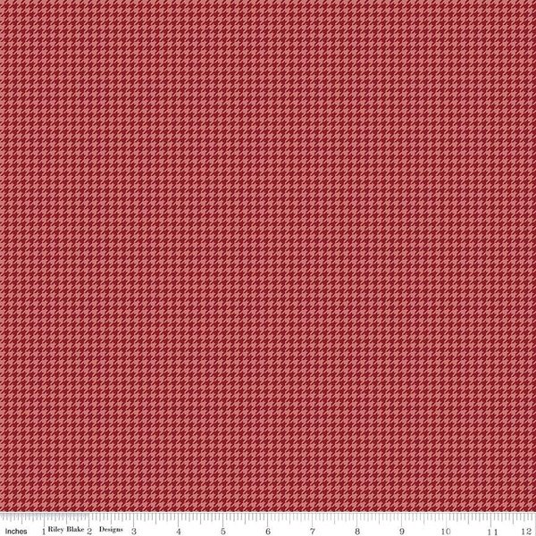 Petals & Pedals Houndstooth Red